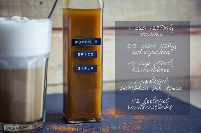 Pumpkin Spice Sirup Zutaten