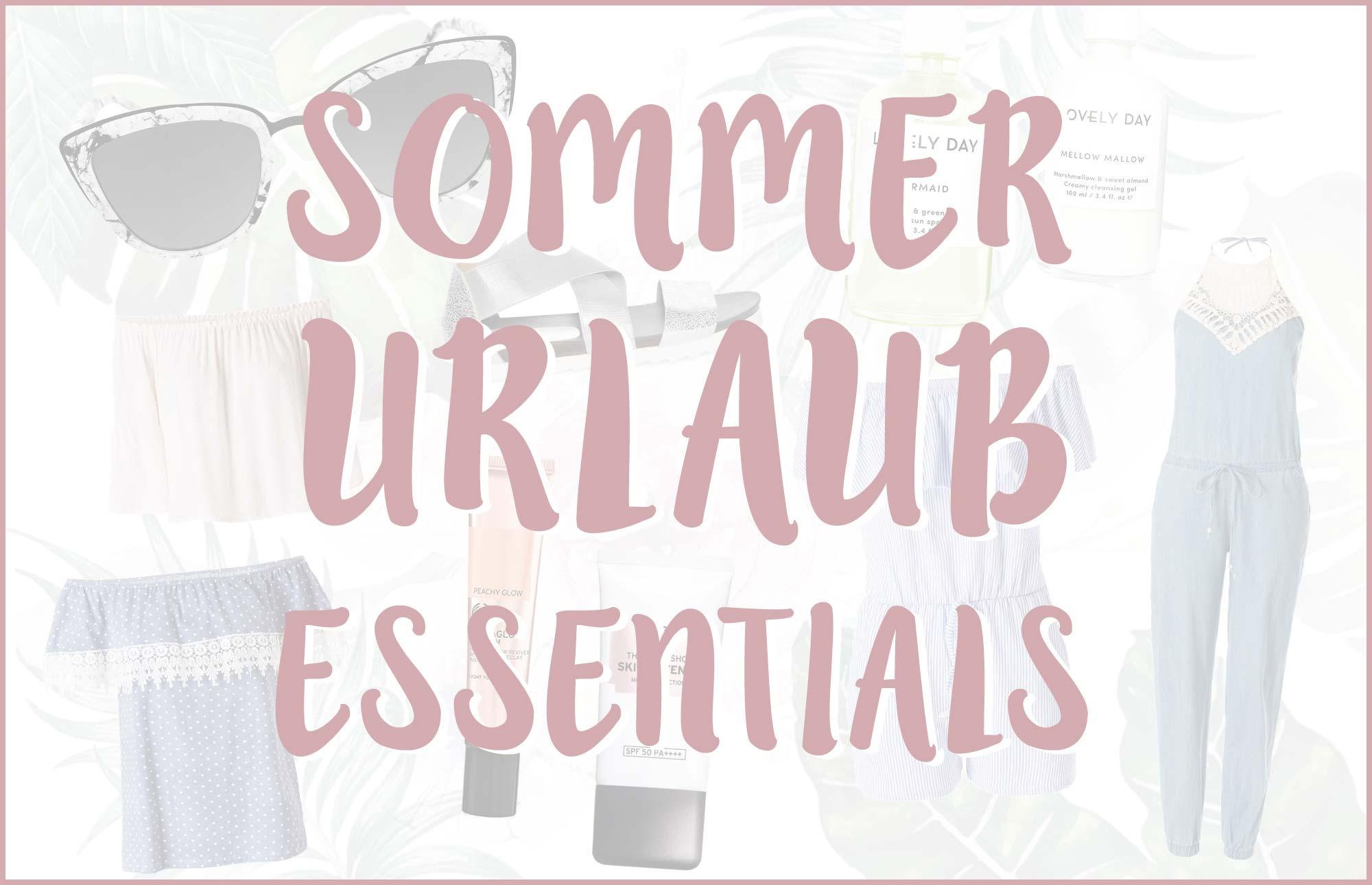 Sommerurlaub Essentials